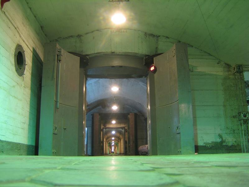 Nuclear Blast Doors in Submarine Base